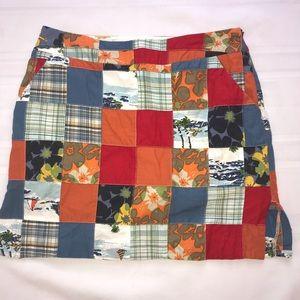 Loudmouth Hawaiian madras patch skirt size 6